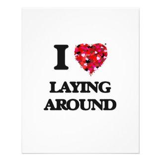 I Love Laying Around 11.5 Cm X 14 Cm Flyer