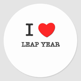 I Love Leap Year Classic Round Sticker