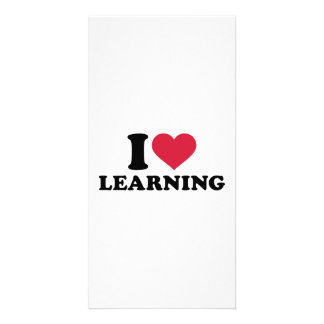 I love learning personalized photo card