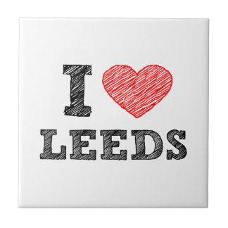 I-love-Leeds Small Square Tile
