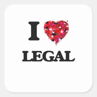 I Love Legal Square Sticker