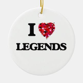 I Love Legends Round Ceramic Decoration