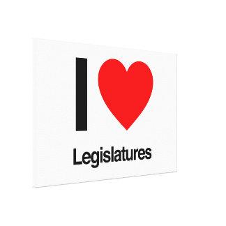 i love legislatures stretched canvas prints
