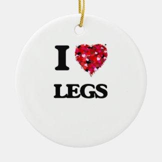 I Love Legs Round Ceramic Decoration