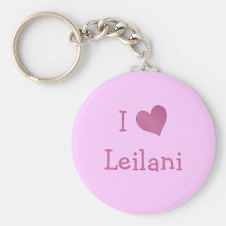 I Love Leilani Basic Round Button Key Ring