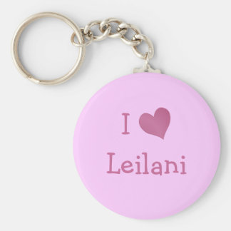I Love Leilani Key Ring