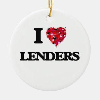 I Love Lenders Round Ceramic Decoration