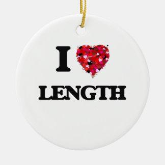I Love Length Round Ceramic Decoration