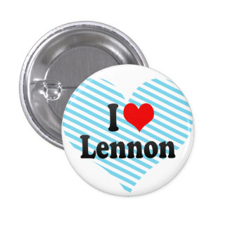 I love Lennon Pinback Buttons