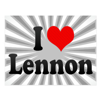 I love Lennon Postcard