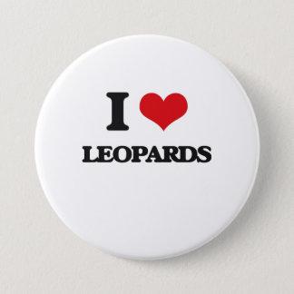 I Love Leopards 7.5 Cm Round Badge