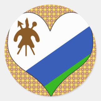 I Love Lesotho Round Sticker