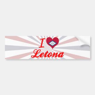 I Love Letona, Arkansas Bumper Sticker