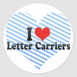 I Love Letter Carriers Classic Round Sticker