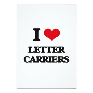 I Love Letter Carriers Invitation Cards