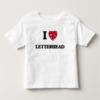 I Love Letterhead Shirt
