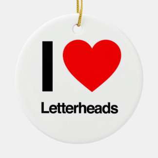 i love letterheads round ceramic decoration