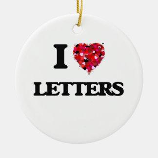 I love Letters Round Ceramic Decoration