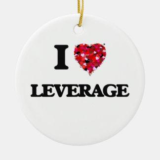 I Love Leverage Round Ceramic Decoration