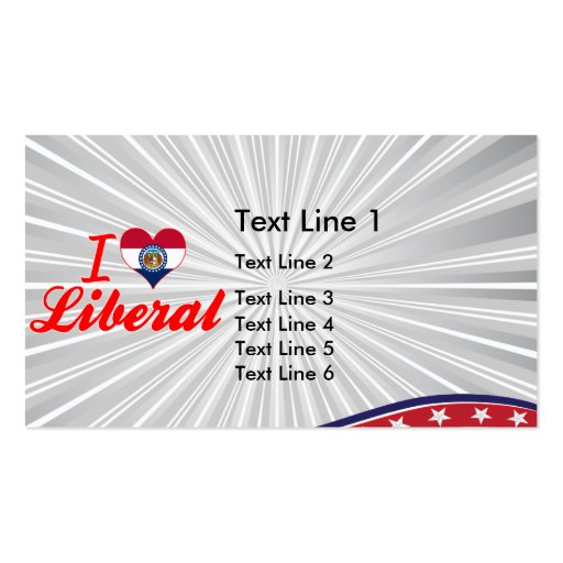 I Love Liberal, Missouri Business Card Template