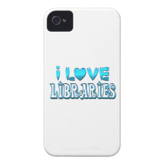 I Love Libraries Case-Mate iPhone 4 Case