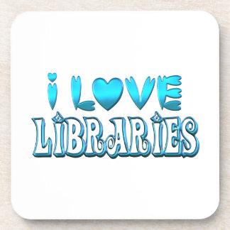 I Love Libraries Coaster