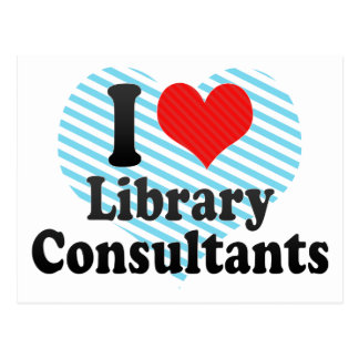 I Love Library Consultants Postcards