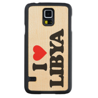 I LOVE LIBYA CARVED® MAPLE GALAXY S5 CASE