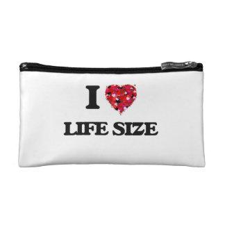 I Love Life Size Cosmetics Bags