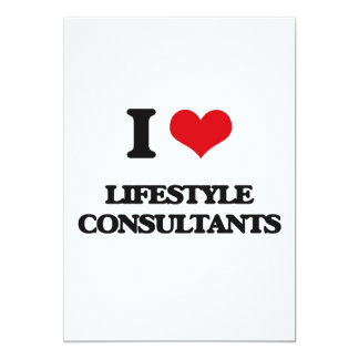 "I love Lifestyle Consultants 5"" X 7"" Invitation Card"
