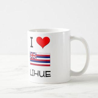 I Love LIHUE Hawaii Mugs