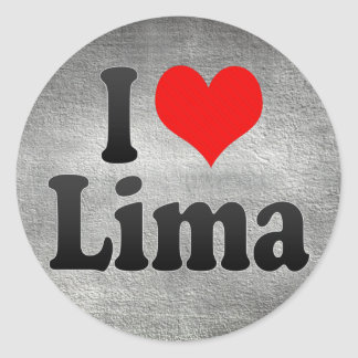 I Love Lima, Peru Classic Round Sticker