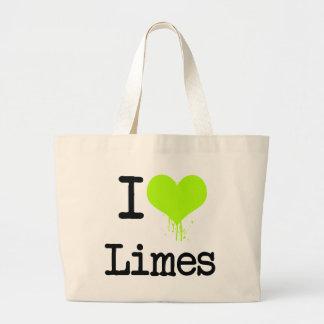 I Love Limes Tote Bags