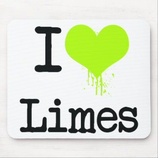I Love Limes Mouse Pad