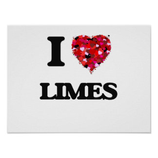 I Love Limes Poster