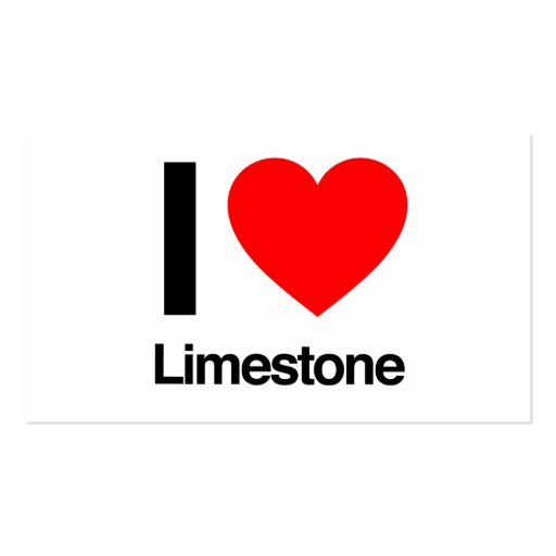 i love limestone business cards