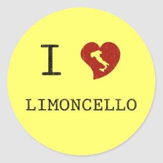 I Love Limoncello Classic Round Sticker