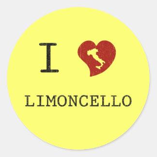 I Love Limoncello Round Sticker