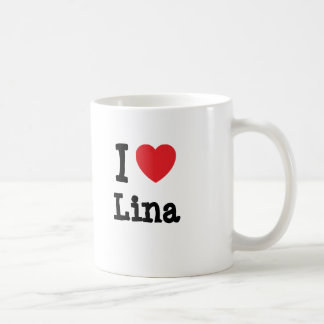 I love Lina heart T-Shirt Coffee Mugs