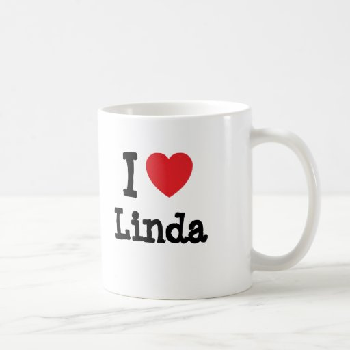 I love Linda heart T-Shirt Coffee Mugs