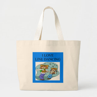 i love line dancing large tote bag