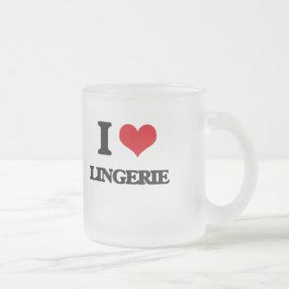 I Love Lingerie Coffee Mugs