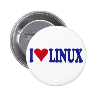 I Love Linux 6 Cm Round Badge