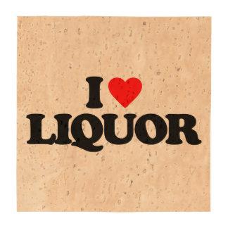 I LOVE LIQUOR DRINK COASTER