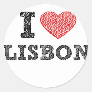 I Love Lisbon Classic Round Sticker