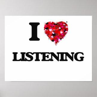 I Love Listening Poster