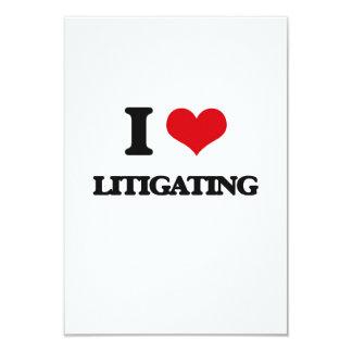 "I Love Litigating 3.5"" X 5"" Invitation Card"