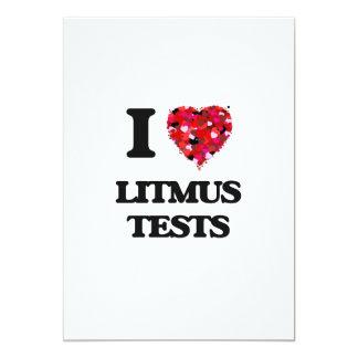 I Love Litmus Tests 13 Cm X 18 Cm Invitation Card