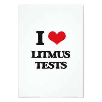 "I Love Litmus Tests 3.5"" X 5"" Invitation Card"