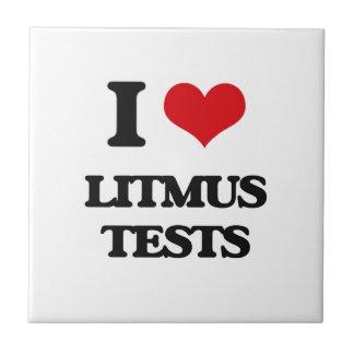 I Love Litmus Tests Small Square Tile